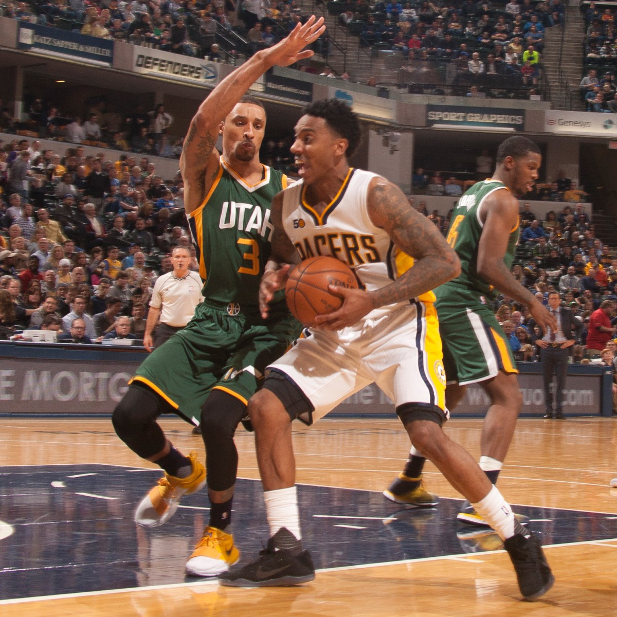 """75f281d77 Jeff Teague carries Pacers over Jazz! Well…until PG wakes up! """"Tradin   Places"""""""