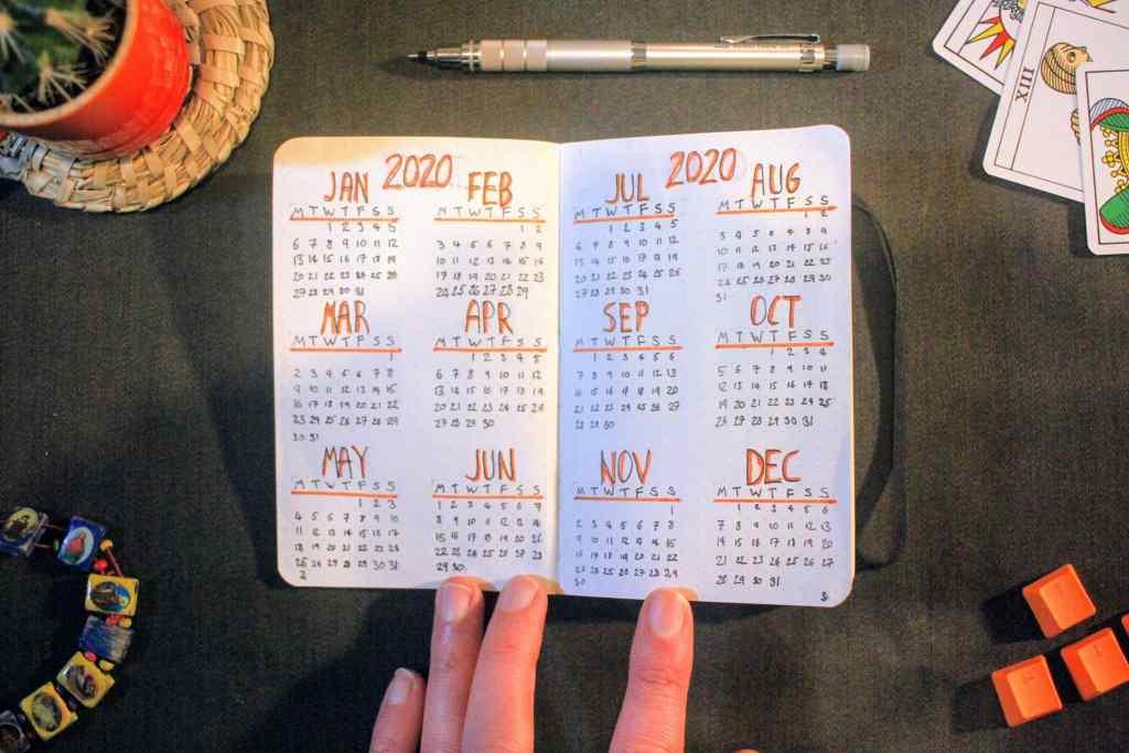 Bullet Journal 2020 Year Planner