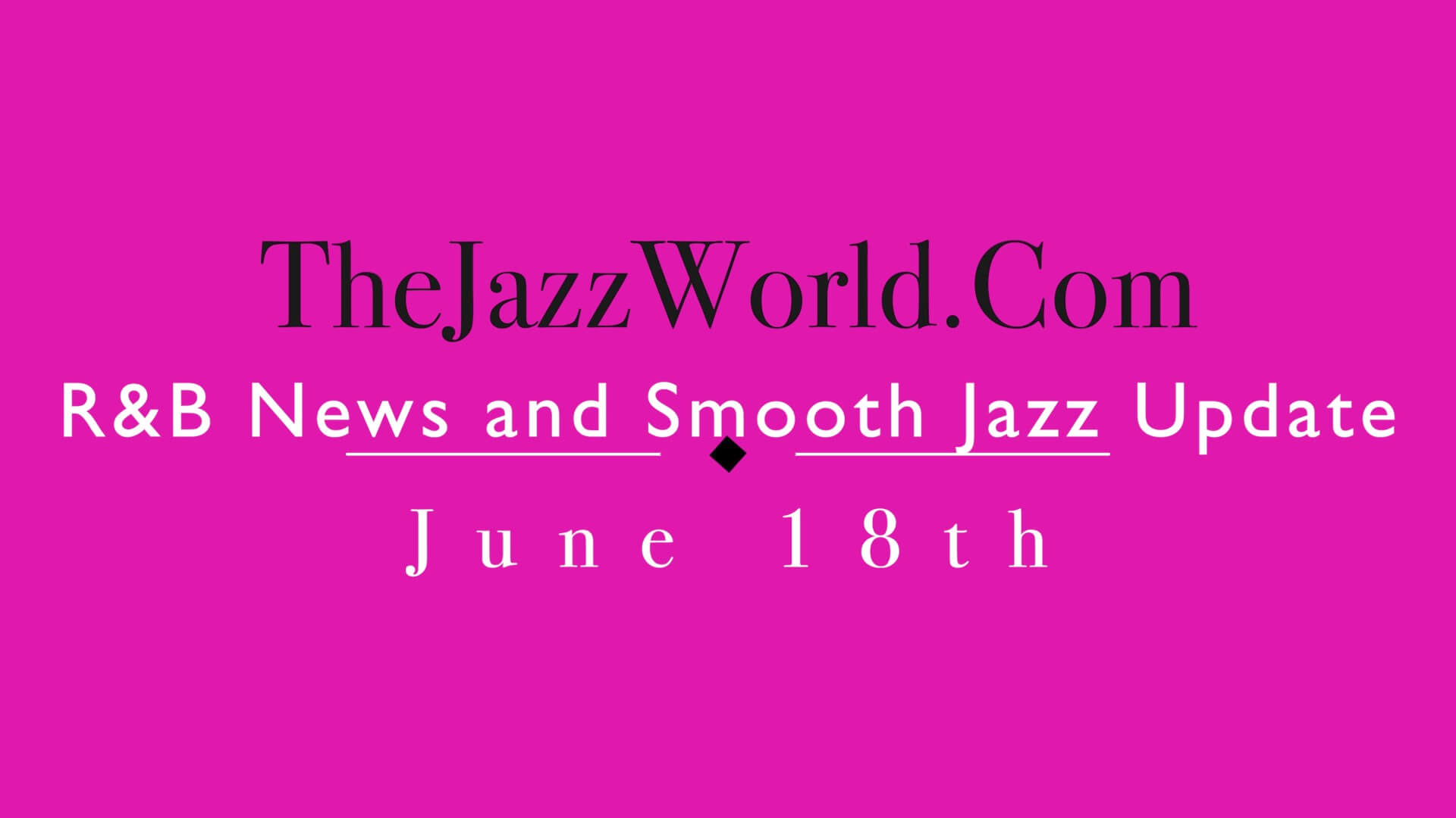 The Jazz World Show 6:18