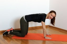 getting into exercise position