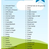 Nature Scavenger Hunt {FREE Printable}