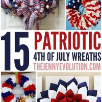 15 DIY 4th of July Patriotic Wreaths