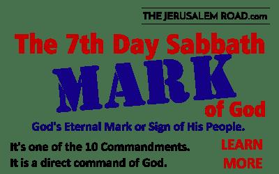 The 7th Day Sabbath MARK of God