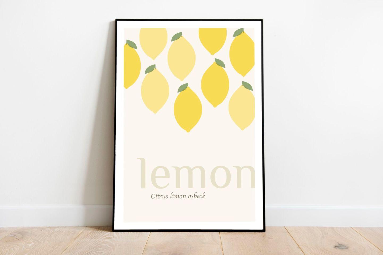 Lemon Graphic Print