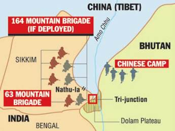 India troops are currently at a place called the Dolam Plateau