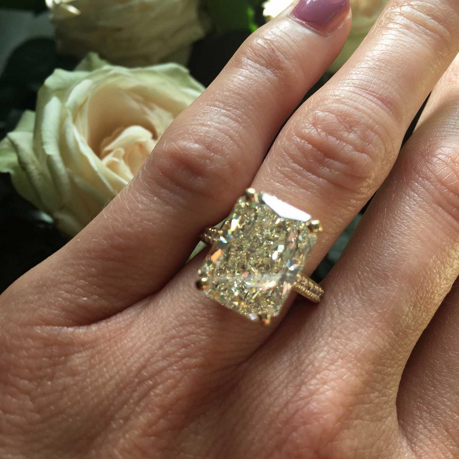 Old Bond Street 1177 Carat Radiant Cut Diamond Engagement