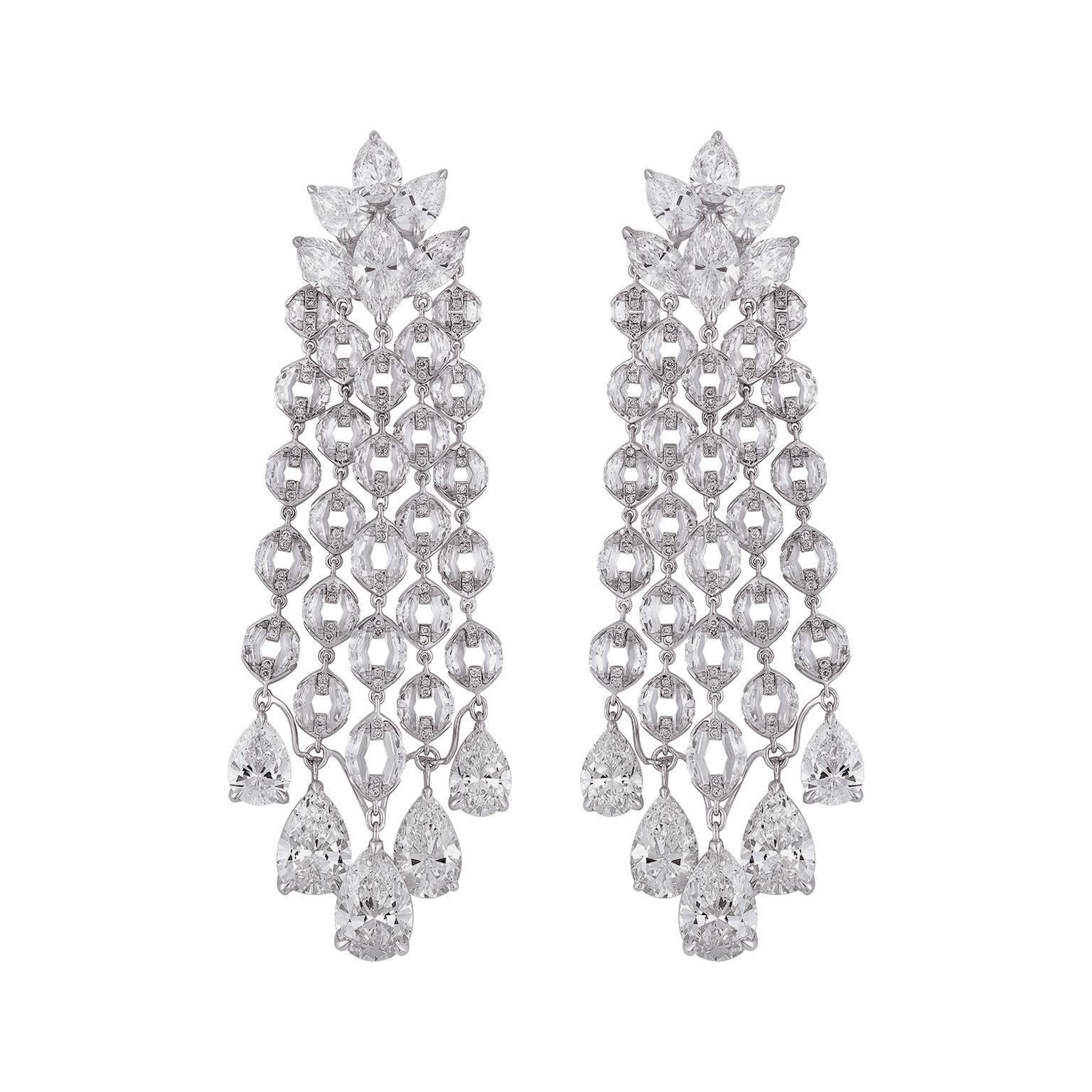 Garden Of Kalahari High Jewellery Diamond Earrings