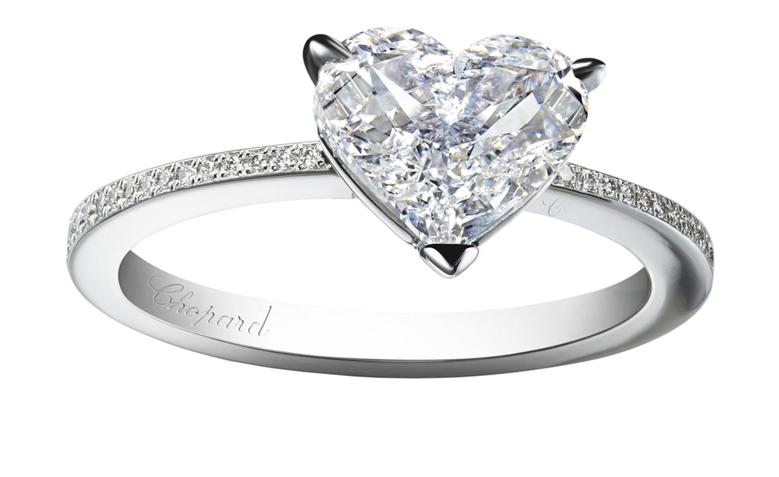 Forever Pav Heart Cut Diamond Engagement Ring Chopard