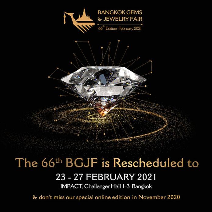 66th Bangkok Gems and Jewelry Fair- February 2021