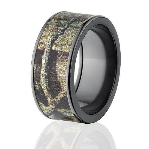 Mossy Oak Bands Camo Wedding Rings Black Breakup