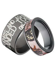Camo Ring Sets His And Her Camo Rings Matching Rings