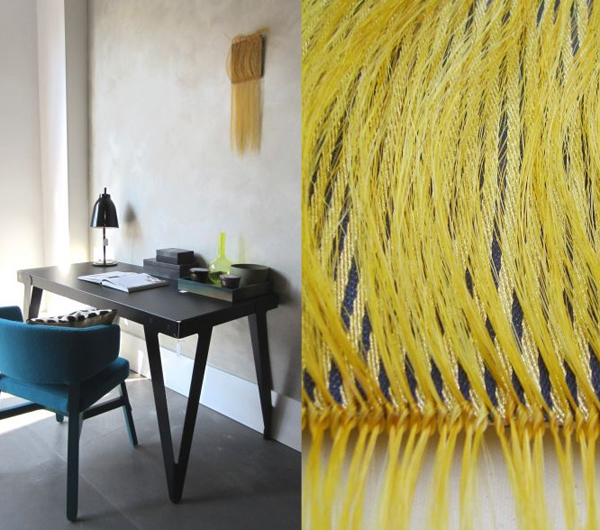 Weavings with horsehair