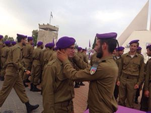 At graduation, David Gordon's immediate supervisor gave him his own purple beret.