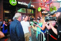 Mark Wahlburg was on hand at the grand opening of Detroit's Wahlburgers on Aug. 12.