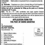 Military Hospital, Secunderabad Recruitment of Ward Sahayika – Group C