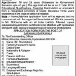 Military Hospital, Golconda Recruitment of Safaiwali – Group C – 2014