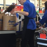 Thomas bagging groceries