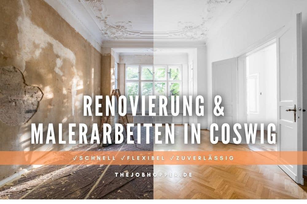 Renovierung und Malerarbeiten nach Umzug in Coswig