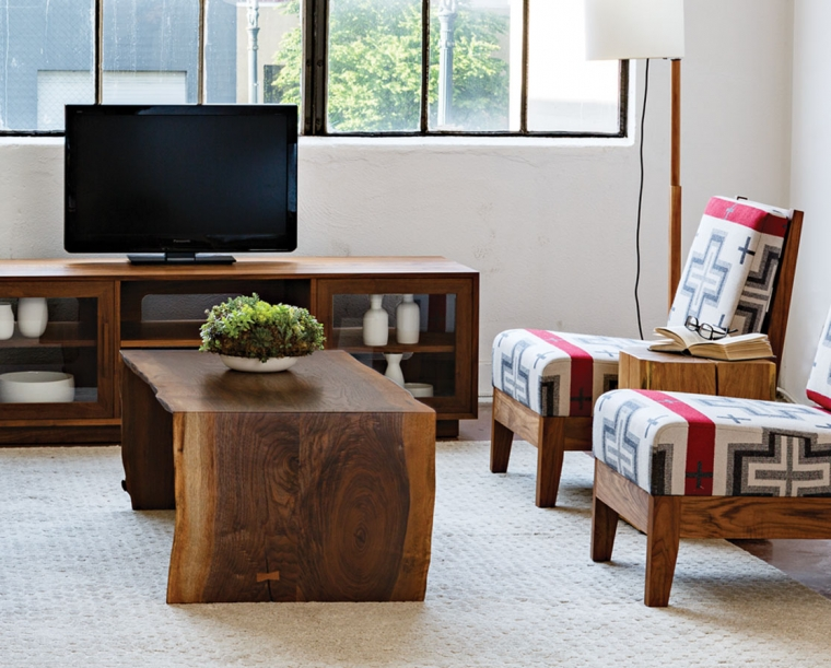 live edge miter wrap coffee table the