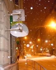 Randall Daluz Snow Storm City Street