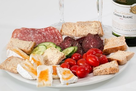 Antipasto plate for jovial journey wine in Buffalo