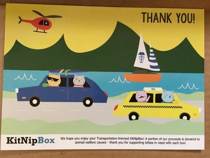 February 2018 KitNipBox - Thank You Card