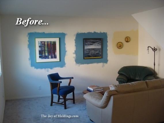 living room painted medium blue