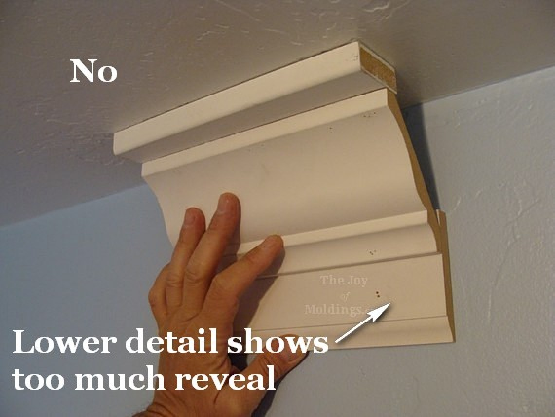 unbalanced crown molding buildup