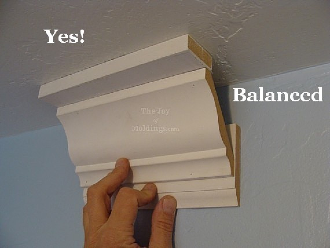 A balanced crown molding