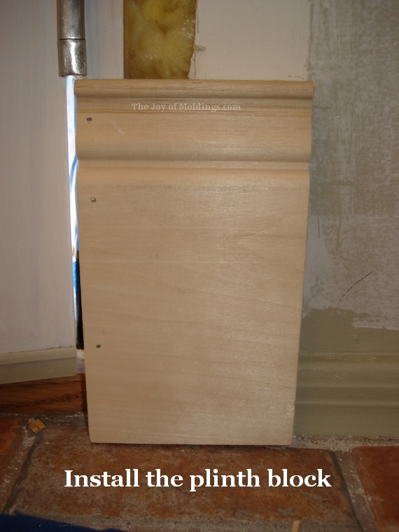 how to install a diy victorian style plinth block