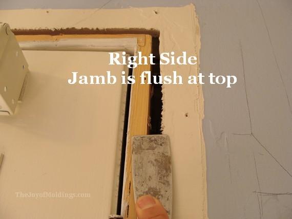 door jamb flush with wall