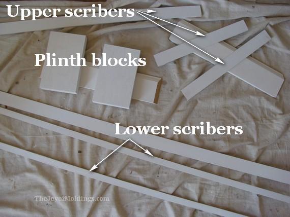 plinth blocks diy, scriber moldings