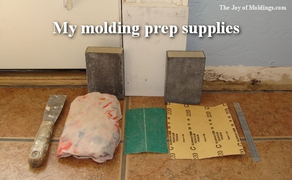 how to sand moldings