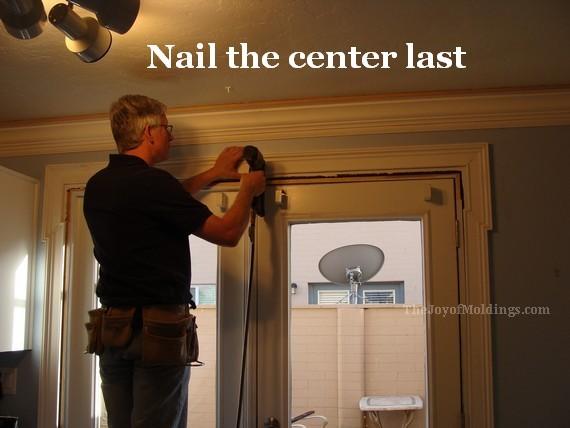 nailing mdf door trim casing moldings