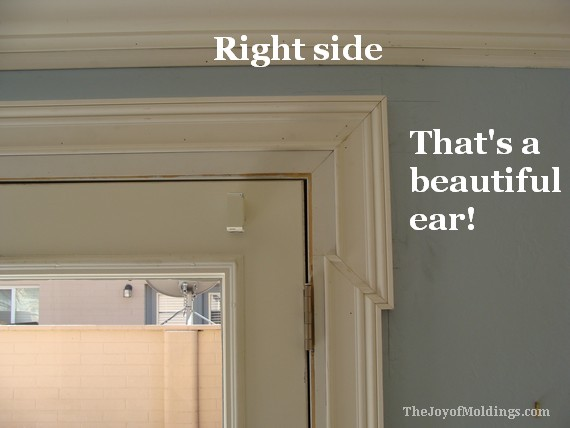 mdf door trim casing molding right side