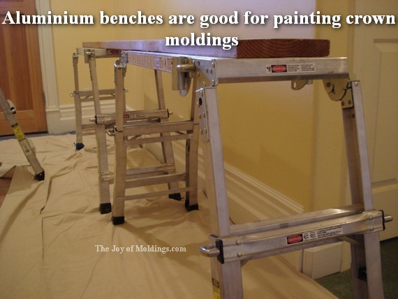 aluminium benches for painting crown moldings