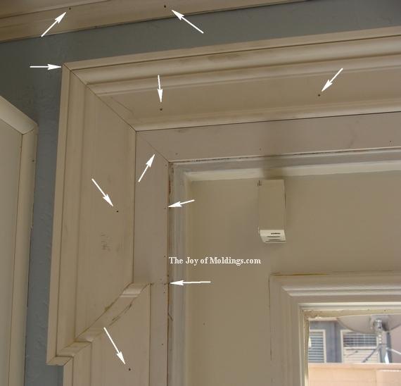 diy door trim fill nail holes