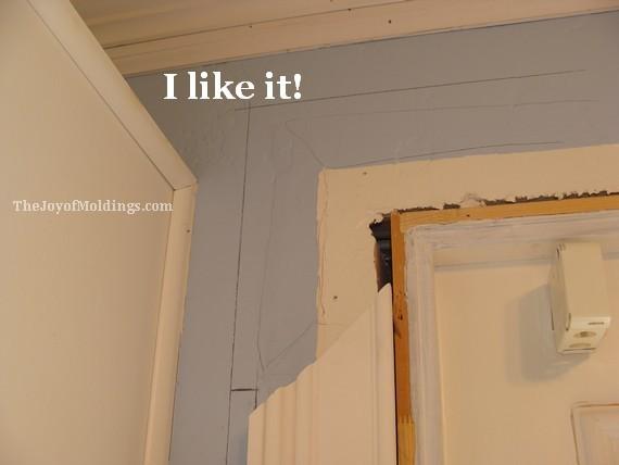 test fit the mdf door trim molding
