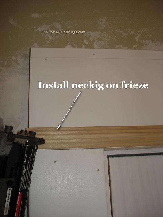 bead molding trim as necking on door trim