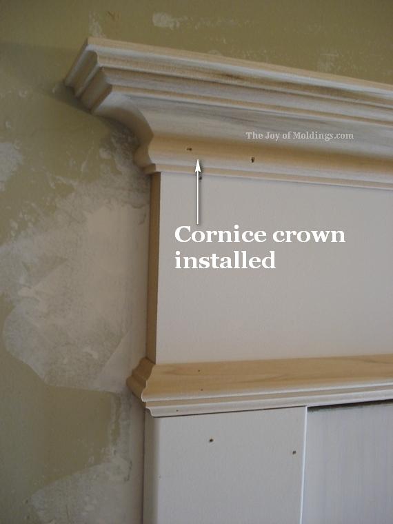 cornice crown molding on door trim