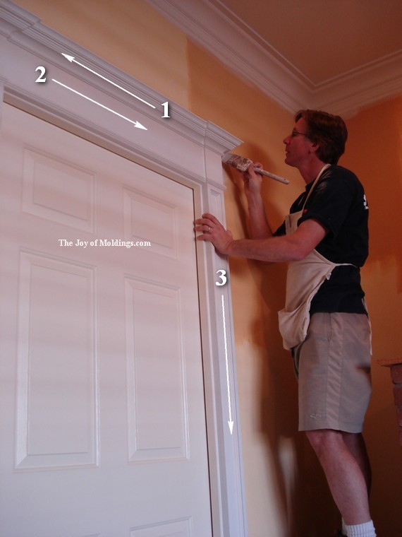 how to paint a door surround