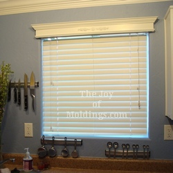 kitchen window cornice valance box made of mdf