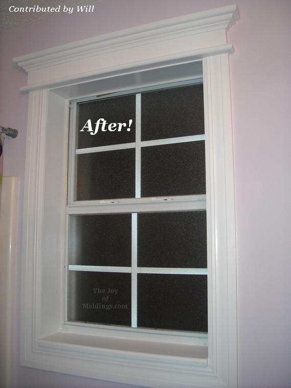 Bathroom window trim Victorian or Craftsman style