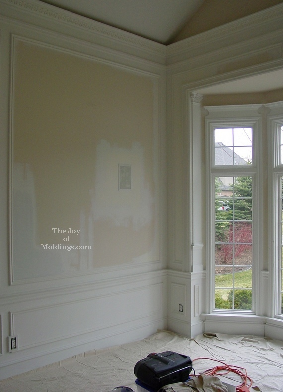 Before And After Crown Molding On Vaulted Ceiling The