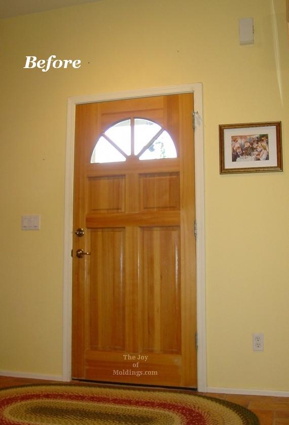 Before Victorian Interior Front Door Trim Installation