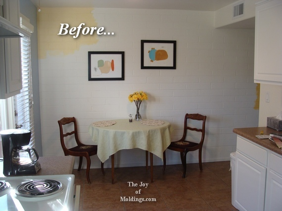 wainscoting in small kitchen