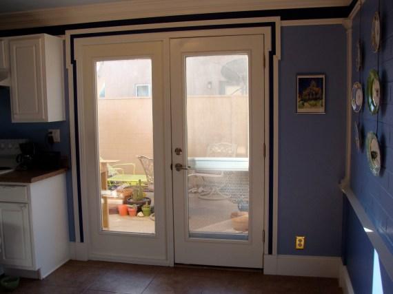 kitchen porch door trim molding