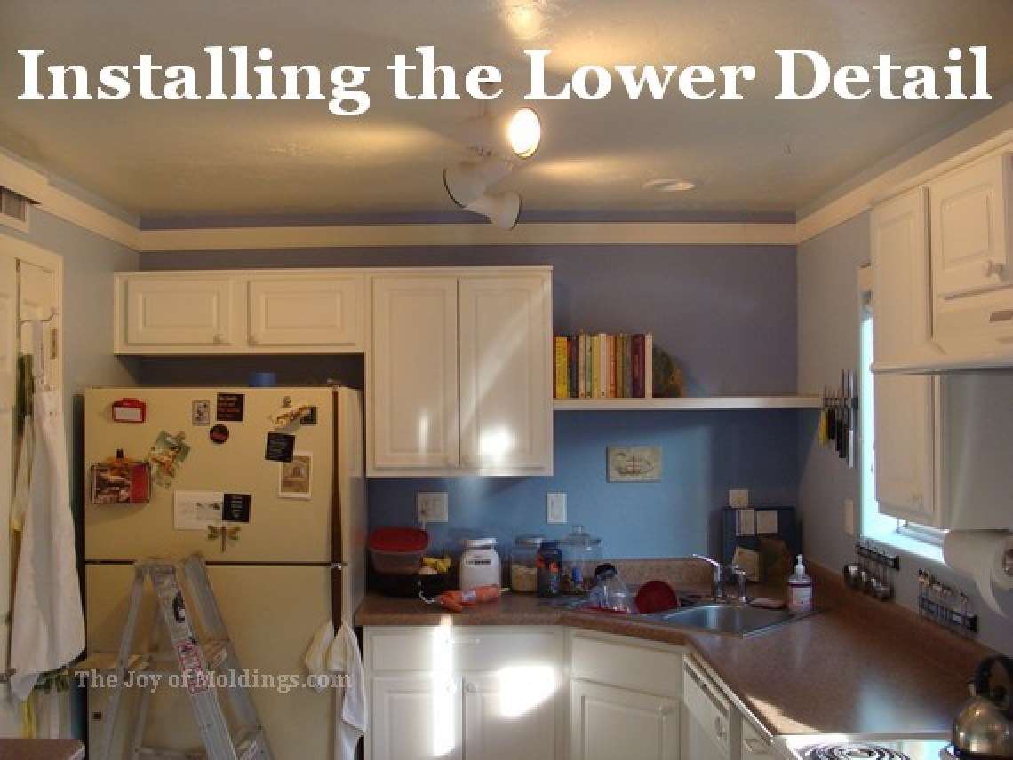 Kitchen crown molding installation