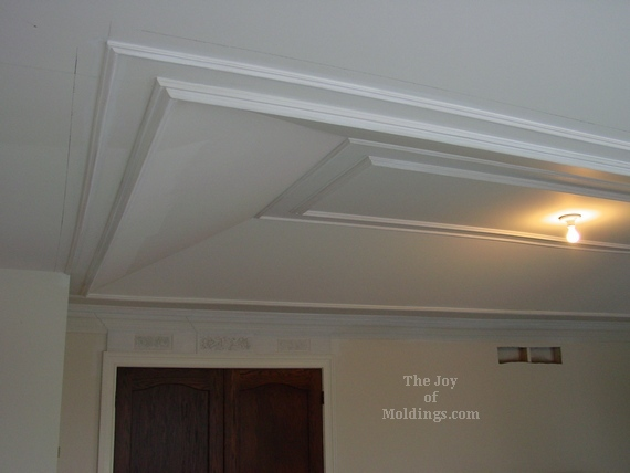 tray ceiling moldings in master bedroom