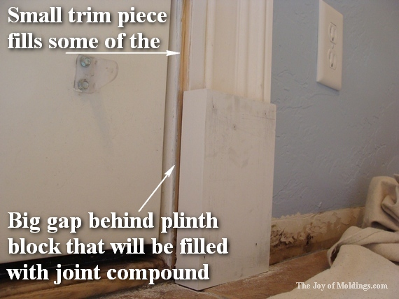 how to paint white moldings